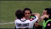 Il goal di Floro Flores riporta l'Udinese in vantaggio