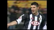 Il goal di Iaquinta porta in vantaggio l'Udinese a Livorno