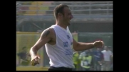 Il goal di Langella porta in vantaggio l'Atalanta con la Lazio