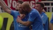 Il goal di Mascara vale il pareggio del Novara contro il Genoa