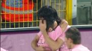 Il goal di Miccoli contro la Juventus porta avanti il Palermo al Barbera