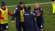 Il goal di Nainggolan sorprende la Roma a inizio partita