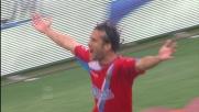 Il goal di Silvestre porta in vantaggio il Catania all'Olimpico