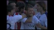 Il goal di testa di Acquafresca decide Bologna-Cagliari