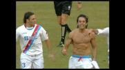 Il goal di testa di Martinez porta avanti il Catania a Genova