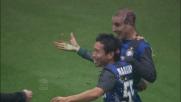 Il goal di testa di Palacio al Cagliari porta in vantaggio l'Inter