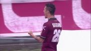 Il goal di testa di Siligardi apre il match Livorno-Chievo