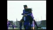 Il goal su punizione di Batistuta permette alla Fiorentina di superare l'Inter