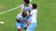 Il goal su punizione di Parolo chiude il match contro il Cagliari