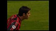 Il goal su rigore di Kakà porta il Milan in vantaggio sulla Roma