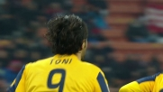 Il goal su rigore di Toni gela San Siro