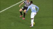 Il gran tiro di Keita colpisce il palo in Lazio-Juventus