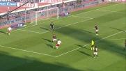 Il palo di Zambrotta al Dall'Ara contro il Bologna