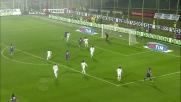 Il palo ferma il colpo di testa di Mutu contro il Milan