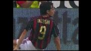 Il palo nega il goal ad Inzaghi