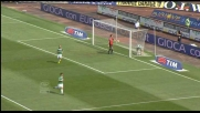 Il sinistro di Calaiò supera Handanovic: è il goal del pari del Siena al Friuli