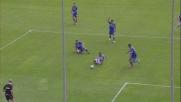 Il tackle di Domizzi è irregolare e costa il calcio di rigore all'Udinese