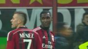 Il tackle di Zapata su Osvaldo nell'area del Milan