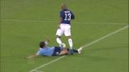 Il tackle falloso di Ledesma su Maicon vale il calcio di rigore