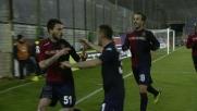 Il tap-in vincente di Pinilla per il goal dell'1-0 al Palermo