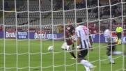 Il tiro di Basha si stampa sulla traversa dell'Udinese