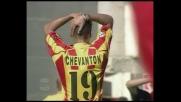 Il tiro di Chevanton lambisce il palo della Lazio