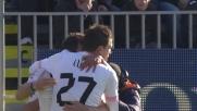 Ilicic segna al Cagliari con un potente e preciso tiro di prima