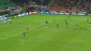 Ilicic segna contro il Milan con un tiro da fuori a San Siro