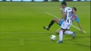 Immenso Di Natale: dribbling e scavetto per il goal del vantaggio Udinese