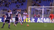 Immobile esplode il destro, palla di poco alta sulla porta del Genoa