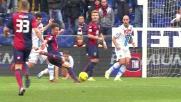 Immobile realizza il goal del momentaneo vantaggio del Genoa sul Napoli