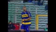 Incornata di Adriano, palla alta e sfuma il goal del Parma all'Olimpico