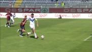Incredibile Caracciolo, calcia fuori a tu per tu con Agazzi in Cagliari-Brescia!