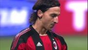 Incrocio dei pali clamoroso di Ibrahimovic contro la Juventus a San Siro