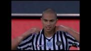 Inler realizza di testa il goal del 3-1 contro il Palermo