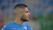Insigne spreca l'occasione contro l'Udinese calciando alto