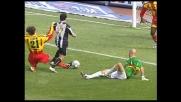 Intervento decisivo di Stovini che salva il Lecce dal goal di Di Michele