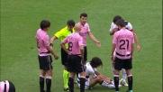 Intervento duro di Biava sul ginocchio di Pinilla: secondo giallo e rosso per il centrale della Lazio