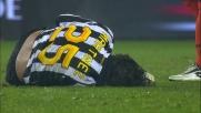 Intervento falloso da dietro di Pinzi su Martinez in Juventus-Udinese