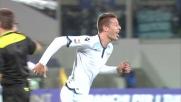 Milinkovic Savic realizza il goal del raddoppio per la Lazio contro la Fiorentina al termine di una grande azione personale
