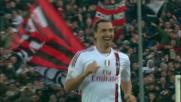 Ibrahimovic con un tocco magico segna il goal del tris del Milan