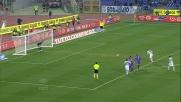 Kozak segna dal dischetto e porta in vantaggio la Lazio contro la Fiorentina