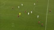 La Lazio colpisce il palo a Marassi grazie ad una deviazione di Ferrari