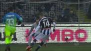 Jankto infila Handanovic con il goal dell'1-0 tra Udinese e Inter