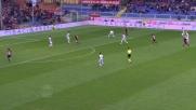 Cerci col suo classico tiro a rientrare colpisce il palo dell'Udinese