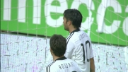 Jimenez si inserisce nella difesa del Genoa e realizza il goal che  accorcia le distanze