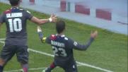 Goal di Diamanti dagli 11 metri in Pescara-Bologna