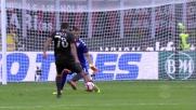Padelli in uscita respinge il tiro di Bacca ed evita il goal in Milan-Torino