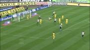Dusan Basta con un rimpallo segna il goal dell'1-0 al Siena