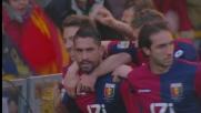 Borriello porta il Genoa in vantaggio contro la Lazio